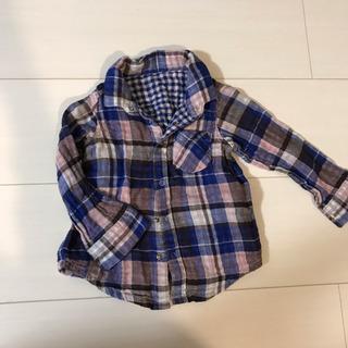 チェックシャツ 80