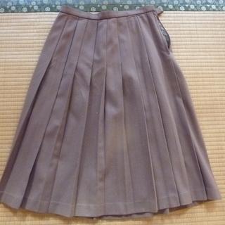 ベージュ 冬用 プリーツスカート