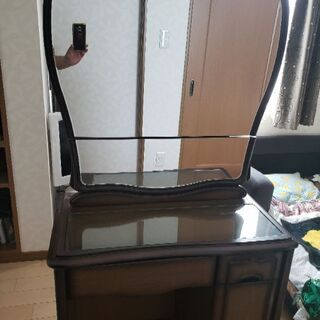 鏡台(椅子つき)