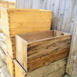 木箱(りんご箱)四個セット