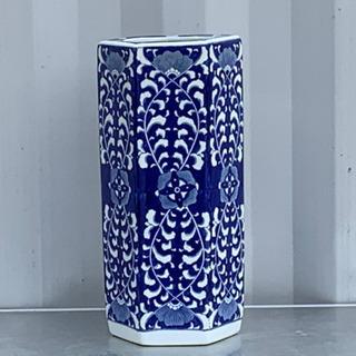 格安で!傘立て◇陶器◇花柄◇6角形◇かさたて