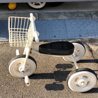 (取引中)無印良品の三輪車 復刻タイプ カゴつき