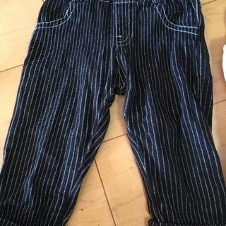 90サイズズボン2点と80サイズ長袖1点セット☆USED