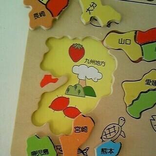 【値下げしました】 木製知育パズル 日本ちず 永岡書店