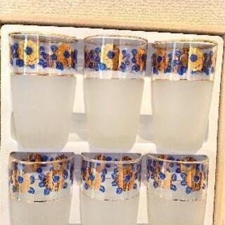 花柄グラス 6個