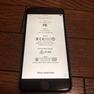 【値下げ】iPhone6 16G  au space gray