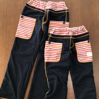 ★110cm&130cm あったか冬用パンツ(美品)〜おまけのパ...