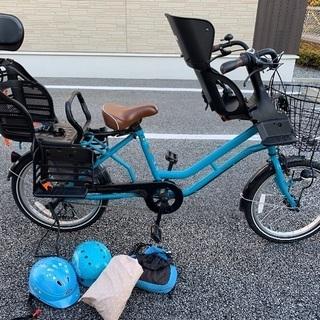 子供乗せ自転車 3人乗り チャイルドシート・ヘルメット・カッパ・...