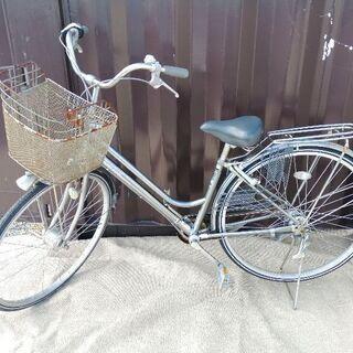自転車 シルバー 銀色 鍵付き 譲渡済み