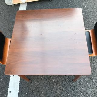 訳あり品の為無料!ダイニングセット テーブル 2Pチェア