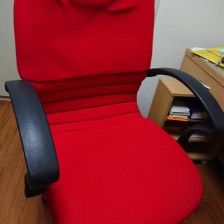 事務用椅子 赤【取りに来られる方限定】