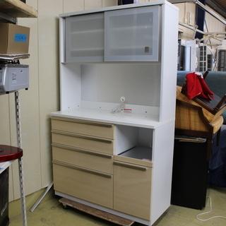 J11211)【美品】高橋木工所 食器棚 キッチンボードシェモア...