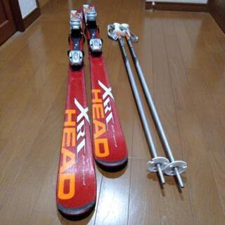 HEAD XRJ 75 ジュニア スキー板 147 ストック付き