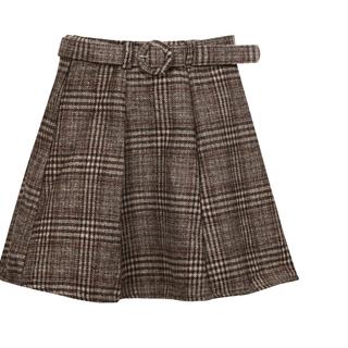 新品未使用 チェック柄ミニスカート Sサイズ