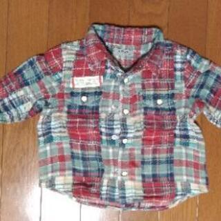 papp 厚手長袖シャツ 90cm