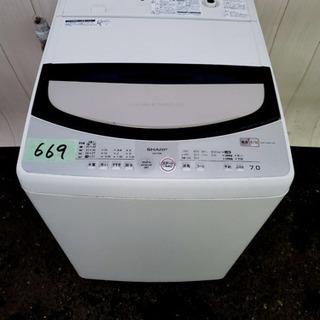 669番 SHARP✨全自動電気洗濯機⚡️ES-T703-S‼️