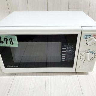 678番 マルマン✨電子レンジ💡MD-668B‼️
