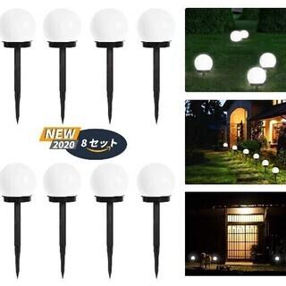 【新品・未使用】ソーラー LEDボールライト 埋め込み式セ…