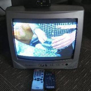 【無料】ブラウン管テレビ 外付けチューナー付き 映ります。