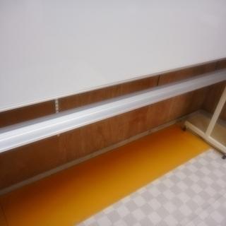 【リサイクルサービス八光 田上店 配達・設置OK 】ホワイトボード 両面 無地 脚付き 幅190cmタイプ - 鹿児島市