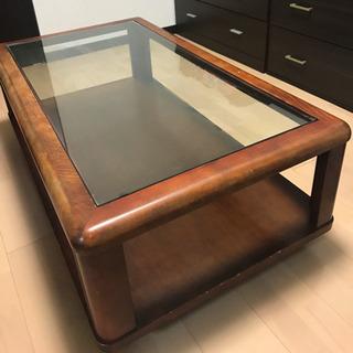 木枠ガラステーブル