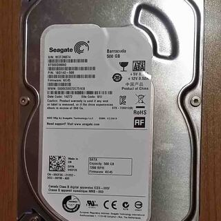 中古HDD500GB Seagate Serial ATA…