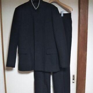 詰襟・学生服上下セット・スナップ5個◆170㎝・W81㎝ ウール混