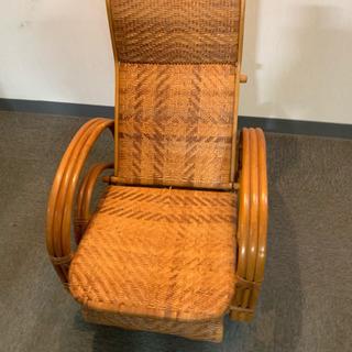 籐椅子 ラタン三つ折寝椅子 リクライニングチェア アジアンテイス...