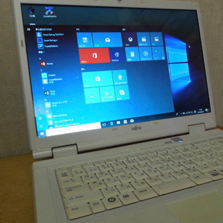 富士通ノートパソコン!Office搭載 Windows10 Of...