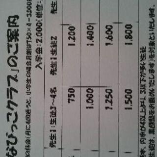 福岡 二日市 湯町公民館 月謝格安3000円~小中学生
