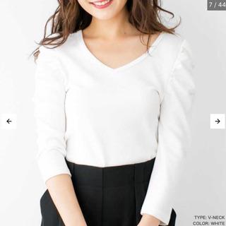 【新品未使用】Uネックパワーショルダートップス ホワイト【アウトレット品】 - 大阪市