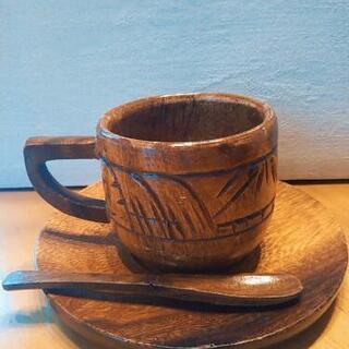木製食器ティーセット6点