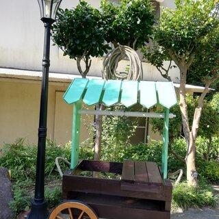 園芸用ワゴン(マルシェワゴン風)・椅子付き