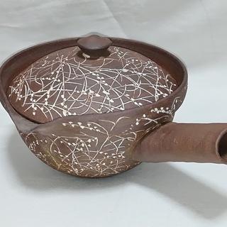 土の香り漂うも煎茶道の素敵な陶山窯の急須/新品未使用