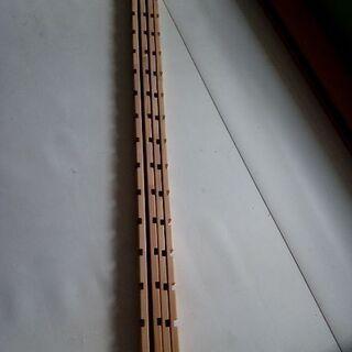 ラック支柱 (厚さ18mm)用 ブラック DTR-1800 4本セット