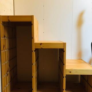 IKEA イケア トロファスト 収納家具 子供部屋 無垢材