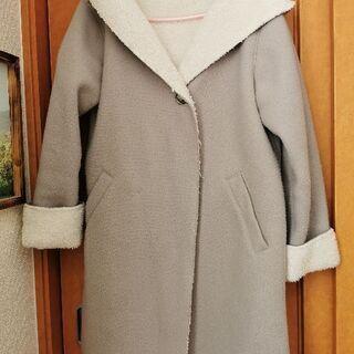 衣料 グローバルワークのパーカー付コート