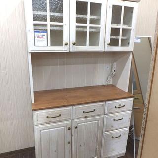 札幌 引き取り セパレート食器棚 カントリー調 キッチンボード ...