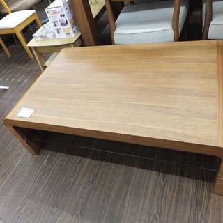 札幌 引き取り センターテーブル ガラス棚付き 木目 おしゃれデザイン
