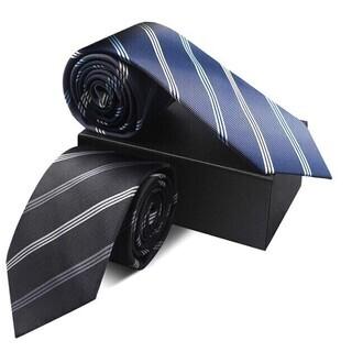 ネクタイ 2本セット 洗えるネクタイ 高級 洗濯ネット付き