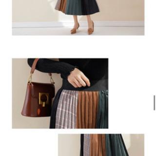 ロングスカート バイカラー 切り替え 着回し 3種類