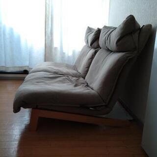 無印良品ハイバックリクライニングソファ