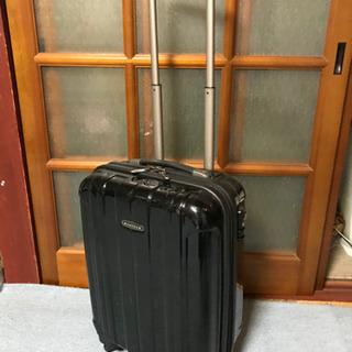プロテカ/スーツケース中古/小型/ブラック/ジッパータイプ/わけあり