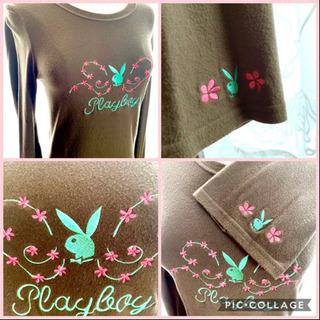 ✨萌え袖✨PLAYBOY✨ベルスリーブ✨刺繍✨Tシャツ✨