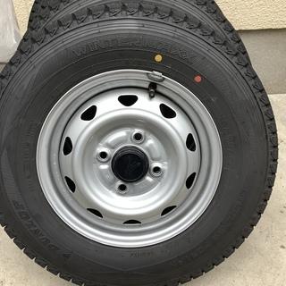 バリ山 スタッドレスタイヤ ホイールセット 145R12  6P...