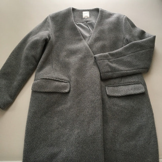 レディース冬物コート Mサイズ グレー テチチ