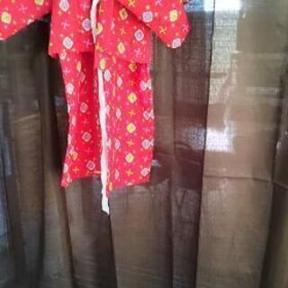 女幼児着物アンサンブルと三尺帯