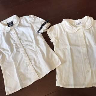 ほぼ新品 綺麗です。 5歳サイズ 白シャツ・ブラウス 半袖
