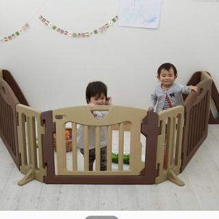 美品 キッズパーテーション 日本育児