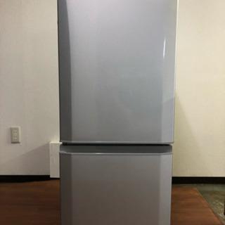 三菱 冷蔵庫 146L 2017年 2ドア シルバー MR-P1...